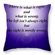 Right And Wrong Throw Pillow