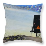 Right Of Way Throw Pillow