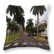 Right Side El Prado Sidewalk Throw Pillow