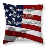 Right To Bear Arms Throw Pillow