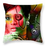 Rihanna Over Rihanna Throw Pillow