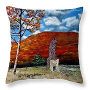 Riley's Old Place Throw Pillow