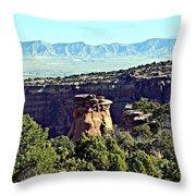 Rim Rock Scenic Lookout Throw Pillow