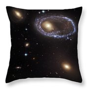 Ring Galaxy Throw Pillow