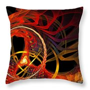 Ring Of Fire Throw Pillow by Andee Design