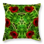 Ring Of Poppies Throw Pillow