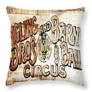 Ringling Brothers And Barnum And Bailey Circus Throw Pillow