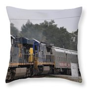 Ringling Brothers - Barnum And Bailey Circus Train Throw Pillow
