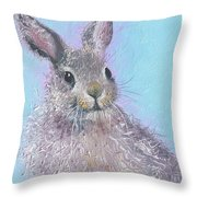 Easter Bunny Painting - Ringo  Throw Pillow