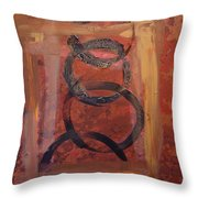 Rings - Circles Of Life Throw Pillow