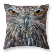 Rings Of Fire, Owl Throw Pillow