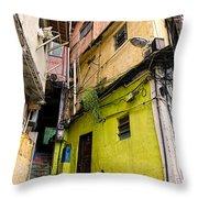 Rio De Janeiro Brazil -  Favela Housing Throw Pillow
