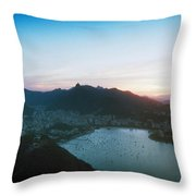 Rio De Janeiro Viewed From Sugarloaf Throw Pillow