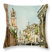 Rio Di San Barnaba - Venice Throw Pillow