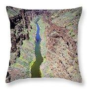 Rio Grande Gorge Throw Pillow