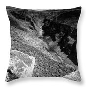 Rio Grande Gorge - Taos New Mexico Throw Pillow