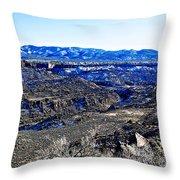 Rio Grande River Canyon-arizona Throw Pillow