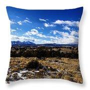 Rio Grande River Canyon-arizona V2 Throw Pillow