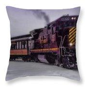 Rio Grande Scenic Railroad Throw Pillow by Ellen Heaverlo