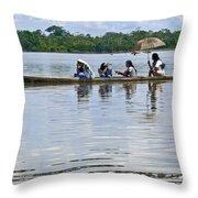 Rio Napo Taxi Throw Pillow