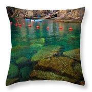 Riomaggiore Bay Throw Pillow