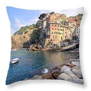 Riomaggiore Cinque Terre - Italy Throw Pillow