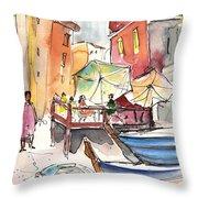 Riomaggiore In Italy 01 Throw Pillow