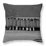 Riot Police In Kyiv Throw Pillow