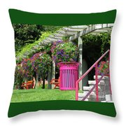 Riotous Resting Place Throw Pillow
