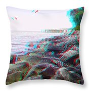Rip Rap - Use Red-cyan 3d Glasses Throw Pillow