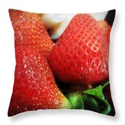 Ripe And Juicy Throw Pillow
