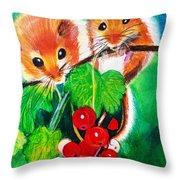 Ripe-n-ready Cherry Tomatoes Throw Pillow