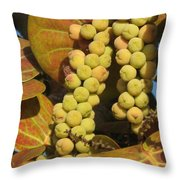 Ripe Seagrapes Throw Pillow