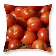Ripe Tomatoes Throw Pillow