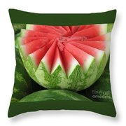 Ripe Watermelon Throw Pillow