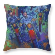 Rippin It Up Throw Pillow
