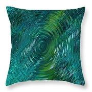 Ripple Sea Glass  Throw Pillow
