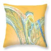 Ripple Yellow Throw Pillow