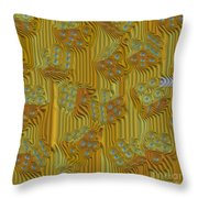 Rippled Dice Abstract Throw Pillow