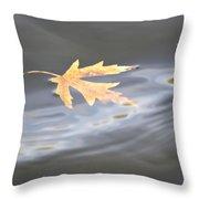 Rippled Maple Leaf Throw Pillow