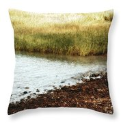 Rippled Water Rippled Reeds Throw Pillow
