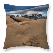 Ripples Dunes And Clouds Throw Pillow