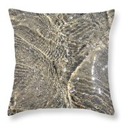Ripples In The Sea Throw Pillow