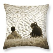 Ripples In Time Throw Pillow
