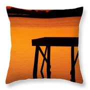 Ripples Of Copper Throw Pillow by Karen Wiles