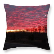 Ripples Of Elevated Lava Throw Pillow