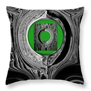 Ripples Of The Green Throw Pillow