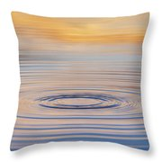 Ripples On A Still Pond Throw Pillow