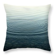 Ripples On Lake Surface, Maine Throw Pillow