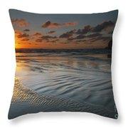 Ripples On The Beach Throw Pillow